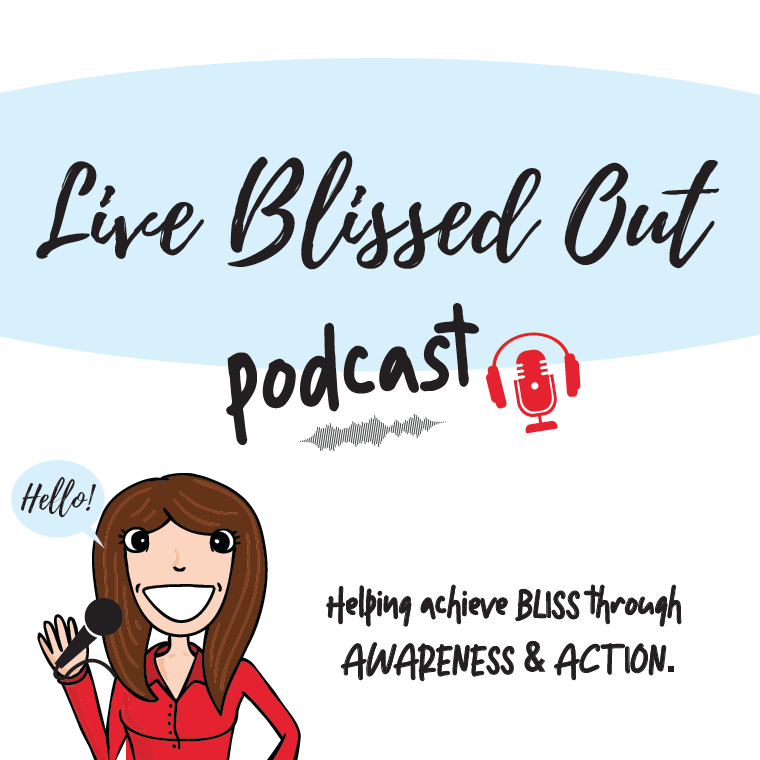 Logo for the Live Blissed Out weekly podcast featuring the show on flowerpot gardening in Colorado, Utah & the West