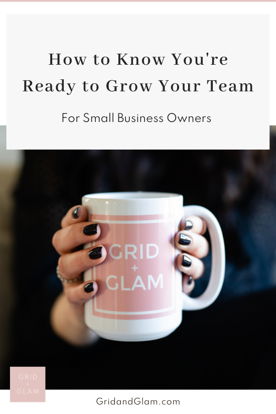 Graphic with a photo of a business woman looking at files with the title, 'How to Know You're Ready to Grow Your Team.'