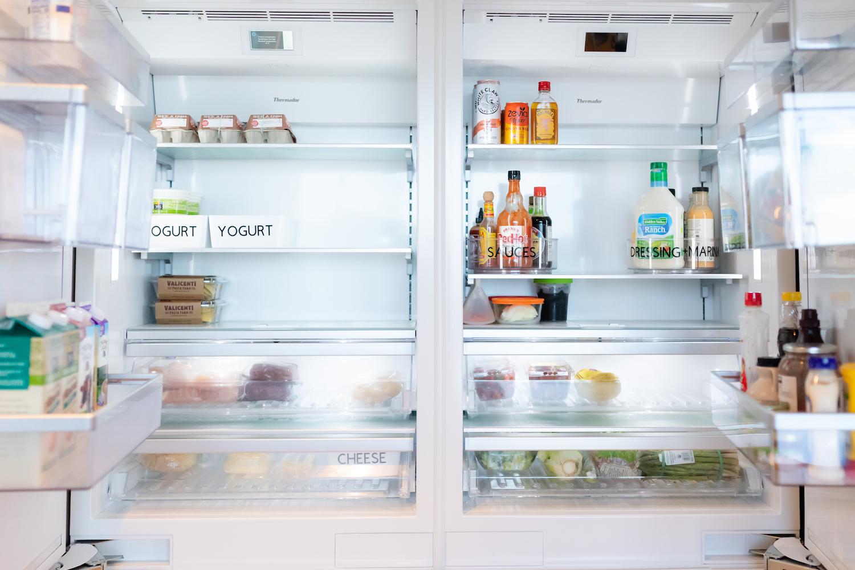 Photo of a neatly organized fridge.