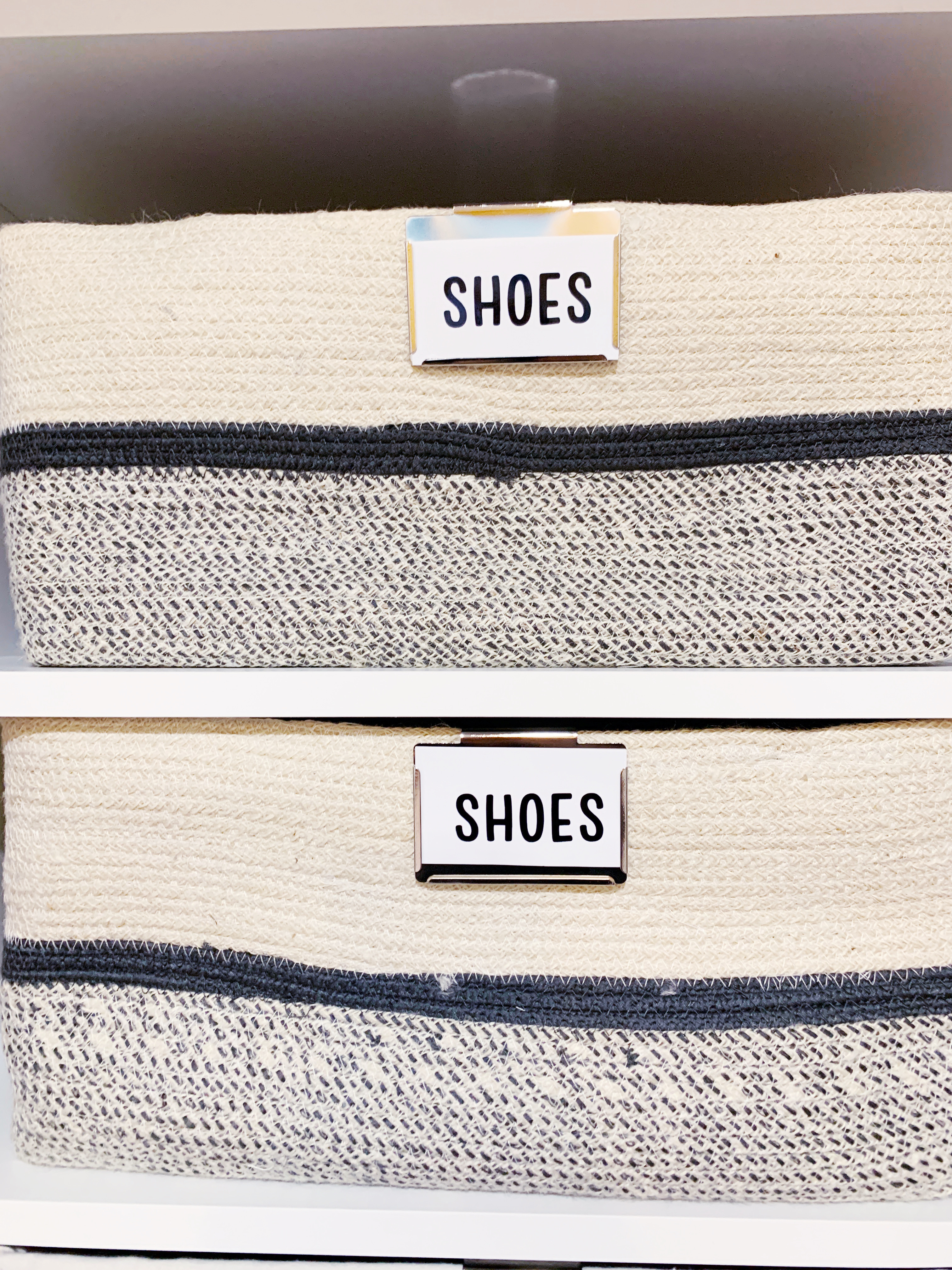 These Nova Woven Storage bins are durable and perfect for shoes