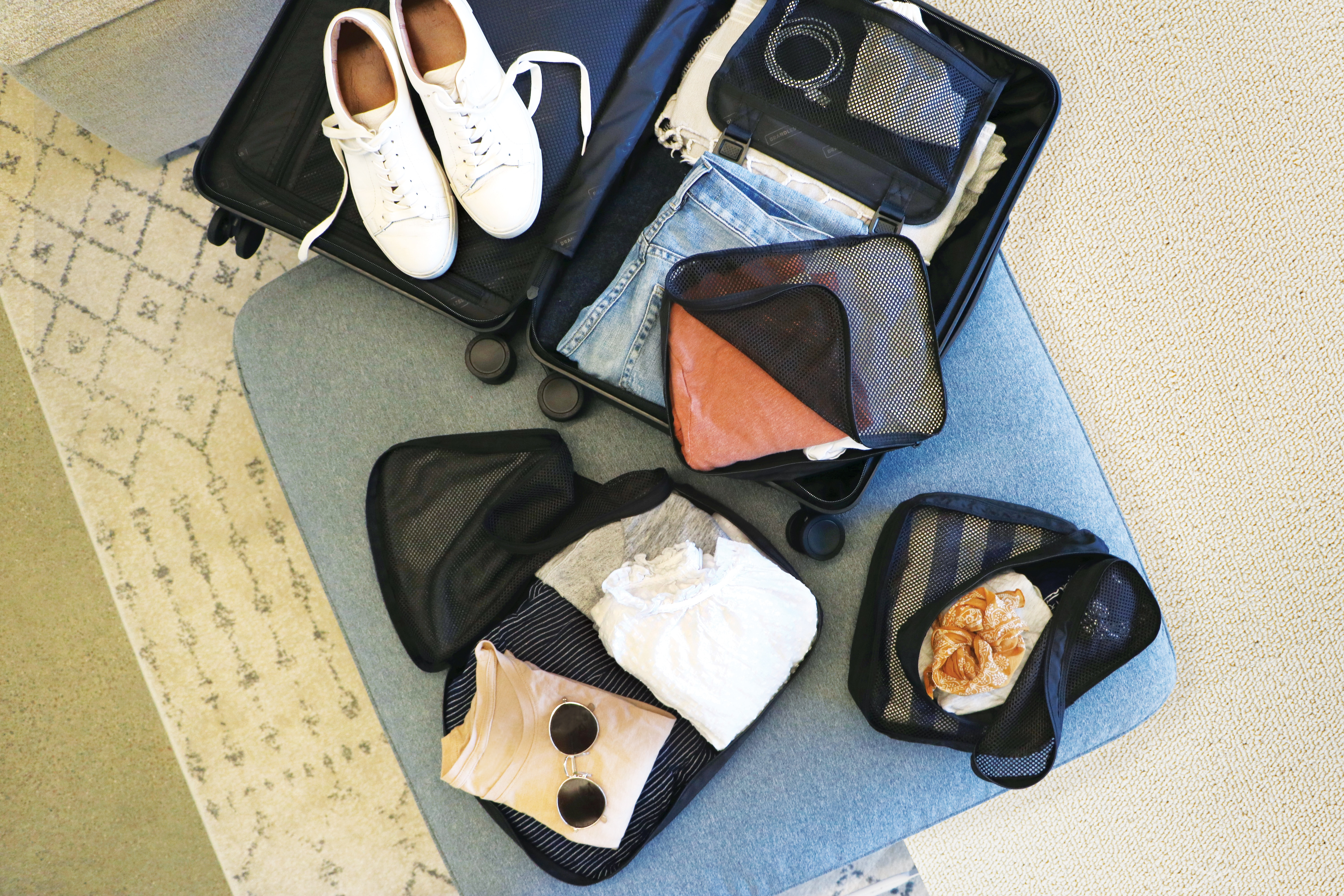 packing cubes for spring break with kids