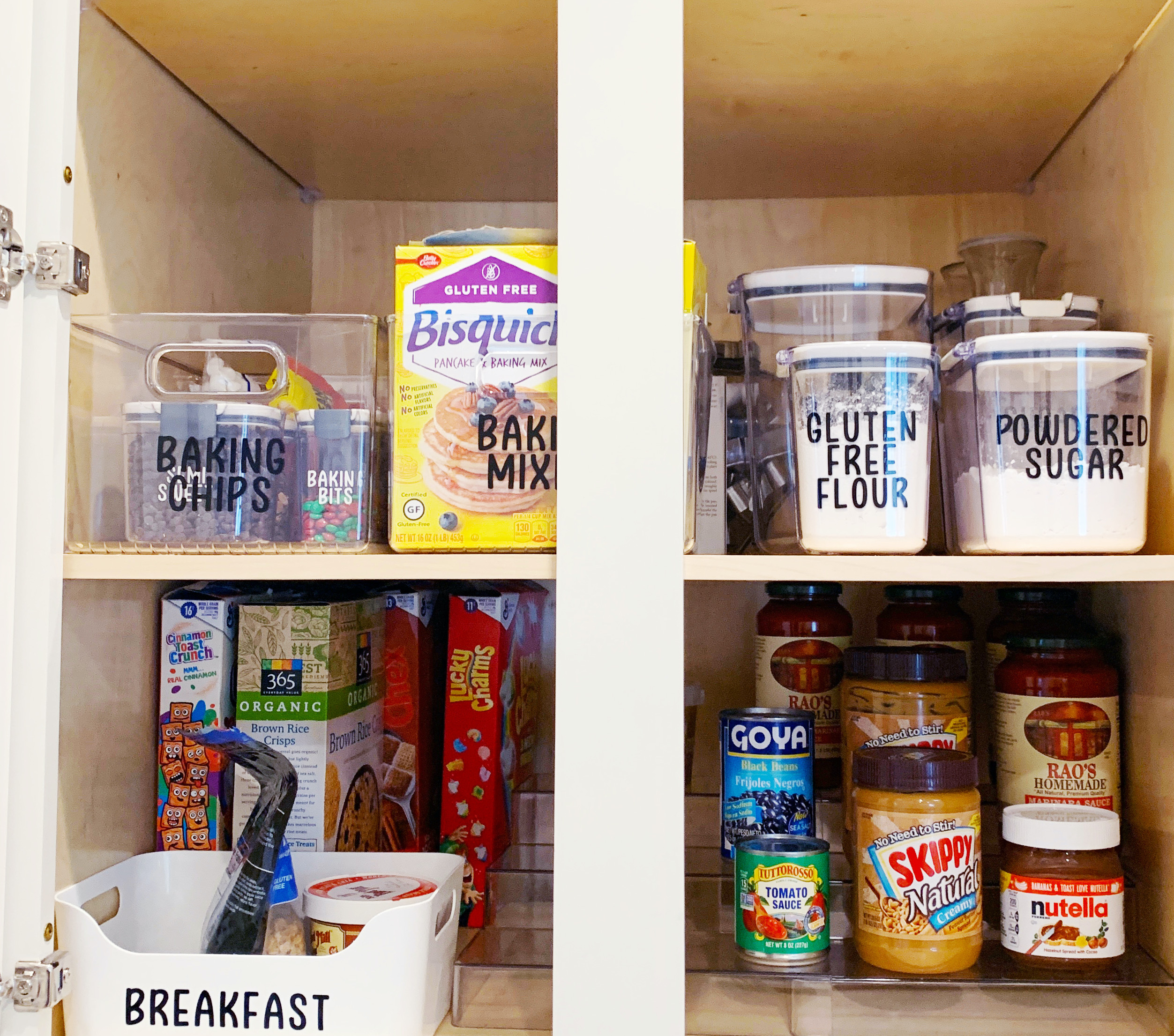 iDesign Linus Pantry Bins are transparent and functional