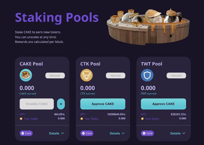 staking pools pancakeswap
