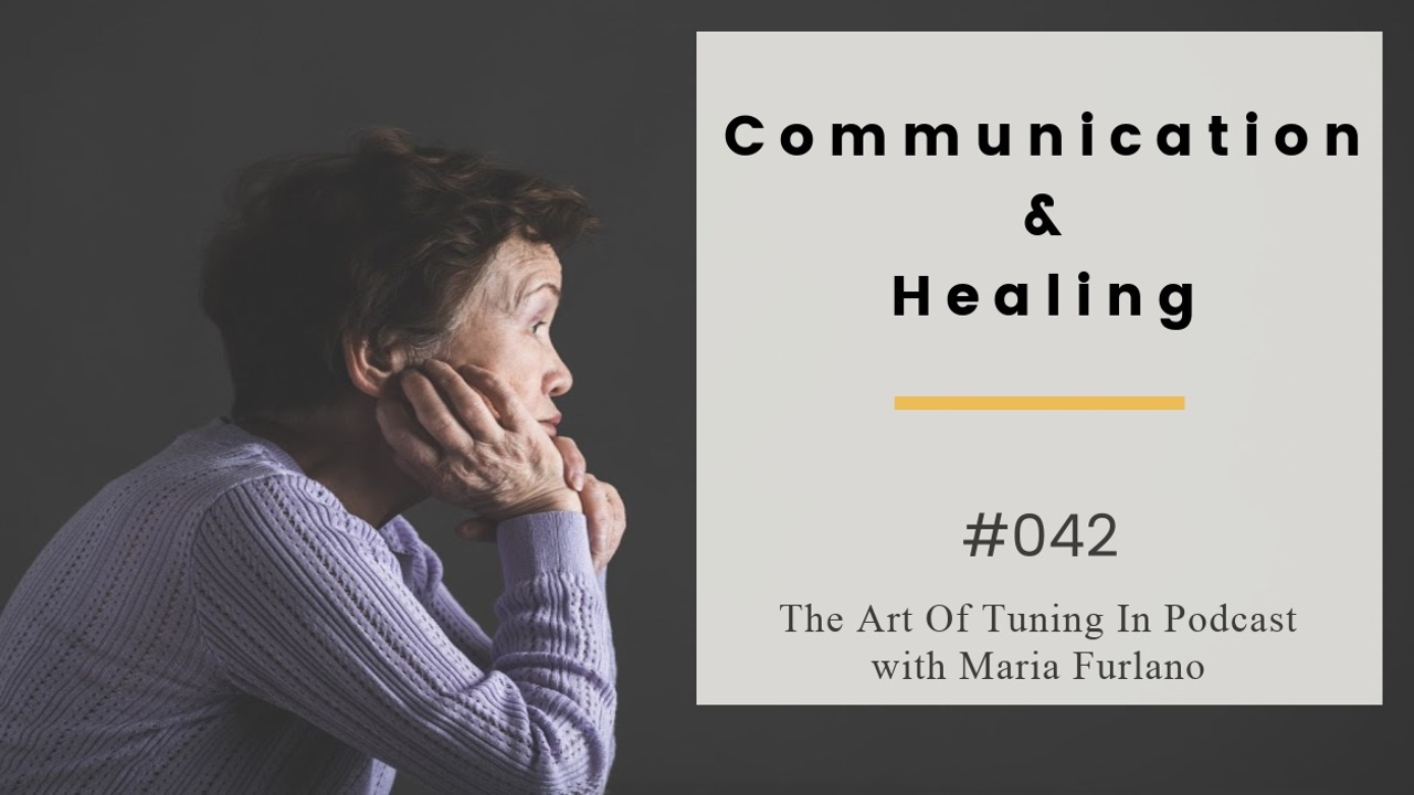 Communication and healing podcast/blog 042 image elderly Asian woman sitting and thinking