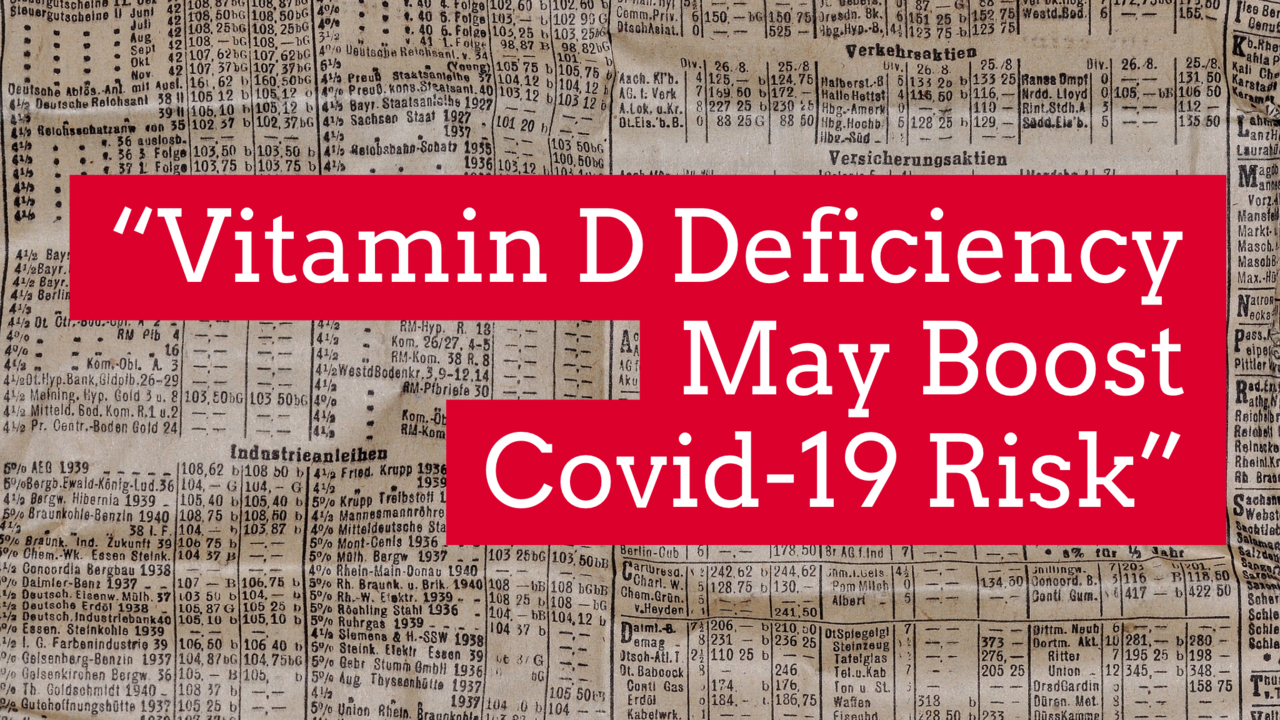 Headine reading vitamin D deficiency may boost covid-19 risk