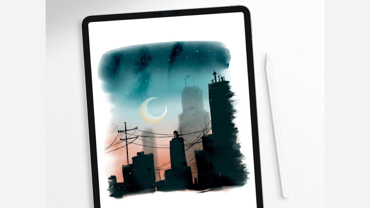How to Paint a Digital Watercolor Cityscape