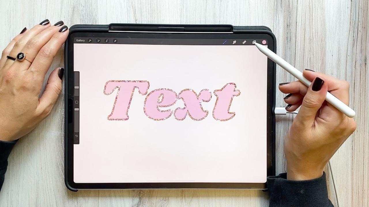 Create a Glitter Outline on Procreate