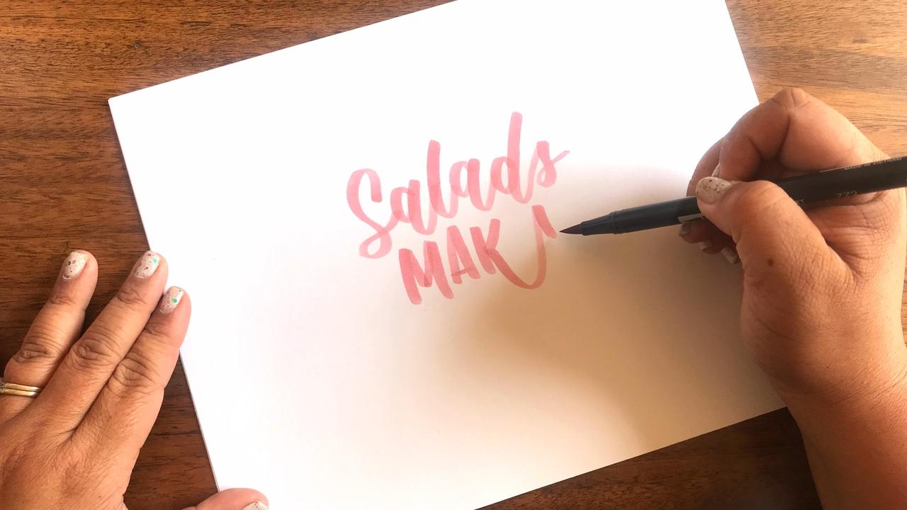 One Pen Ombre Lettering