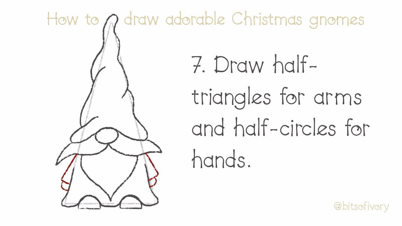 How to Draw Christmas Gnomes
