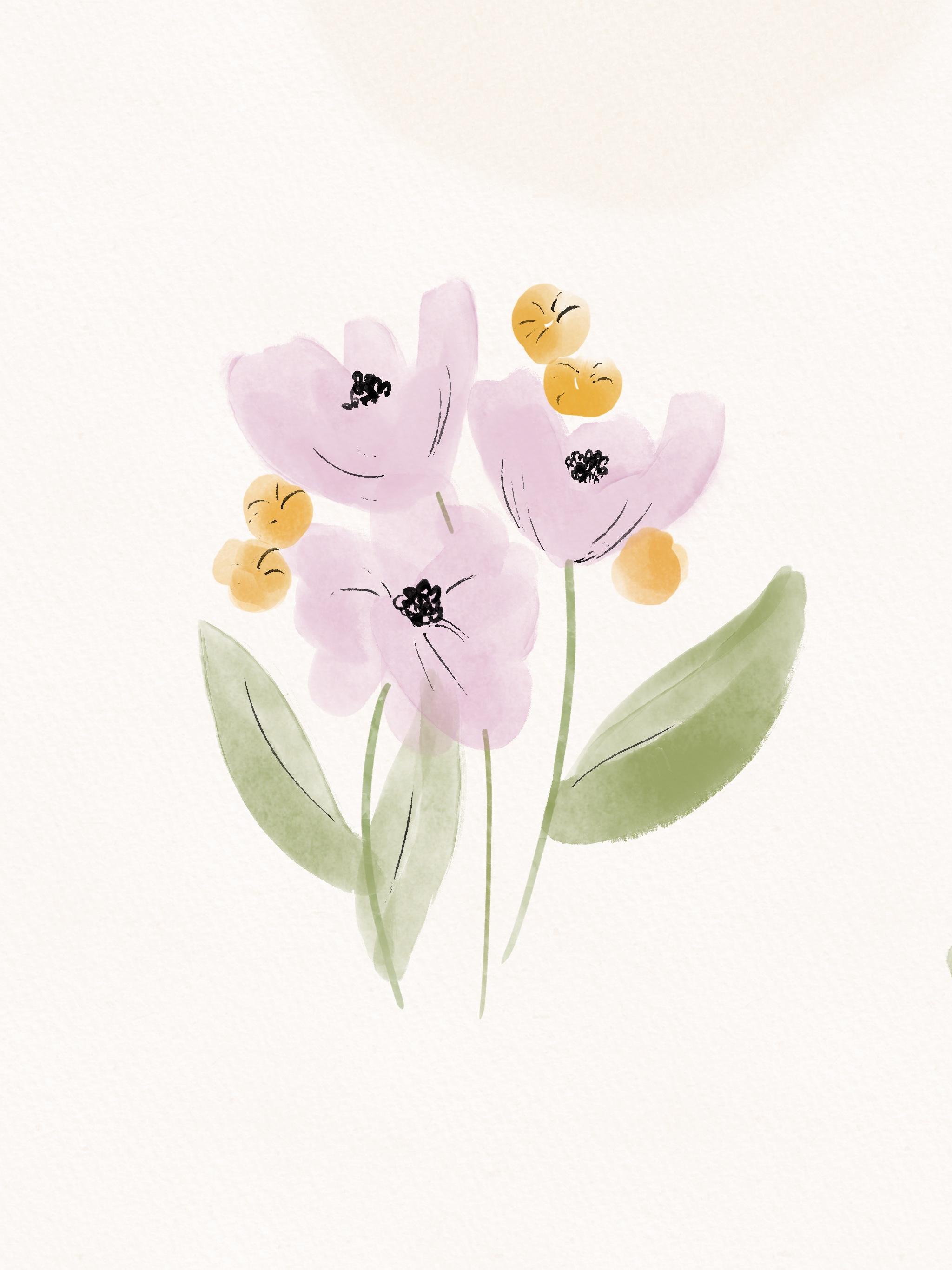 Create Realistic Watercolor Flowers In Procreate
