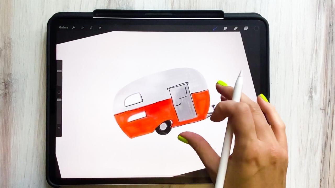 How to Draw a Retro Camper