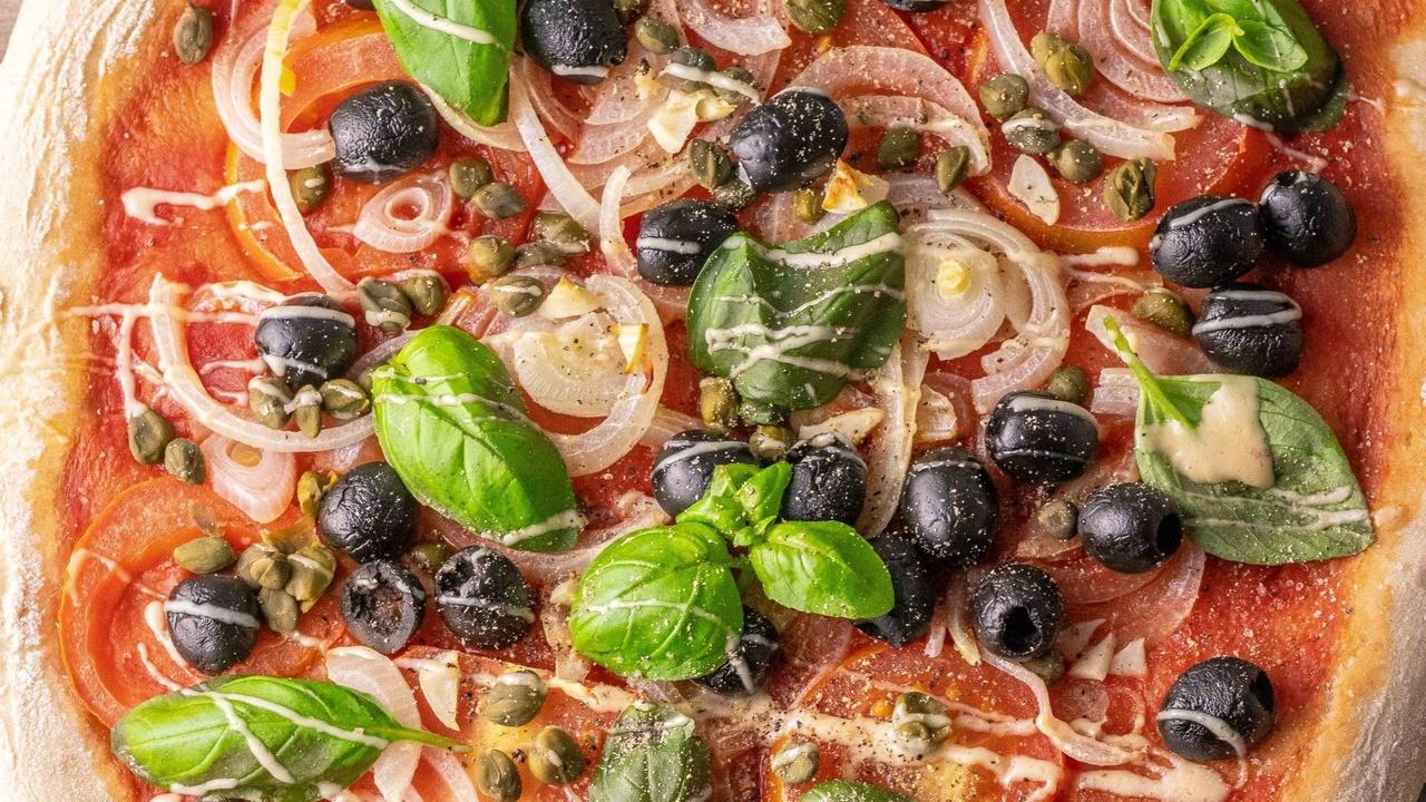 tasty vegan sourdough pizza