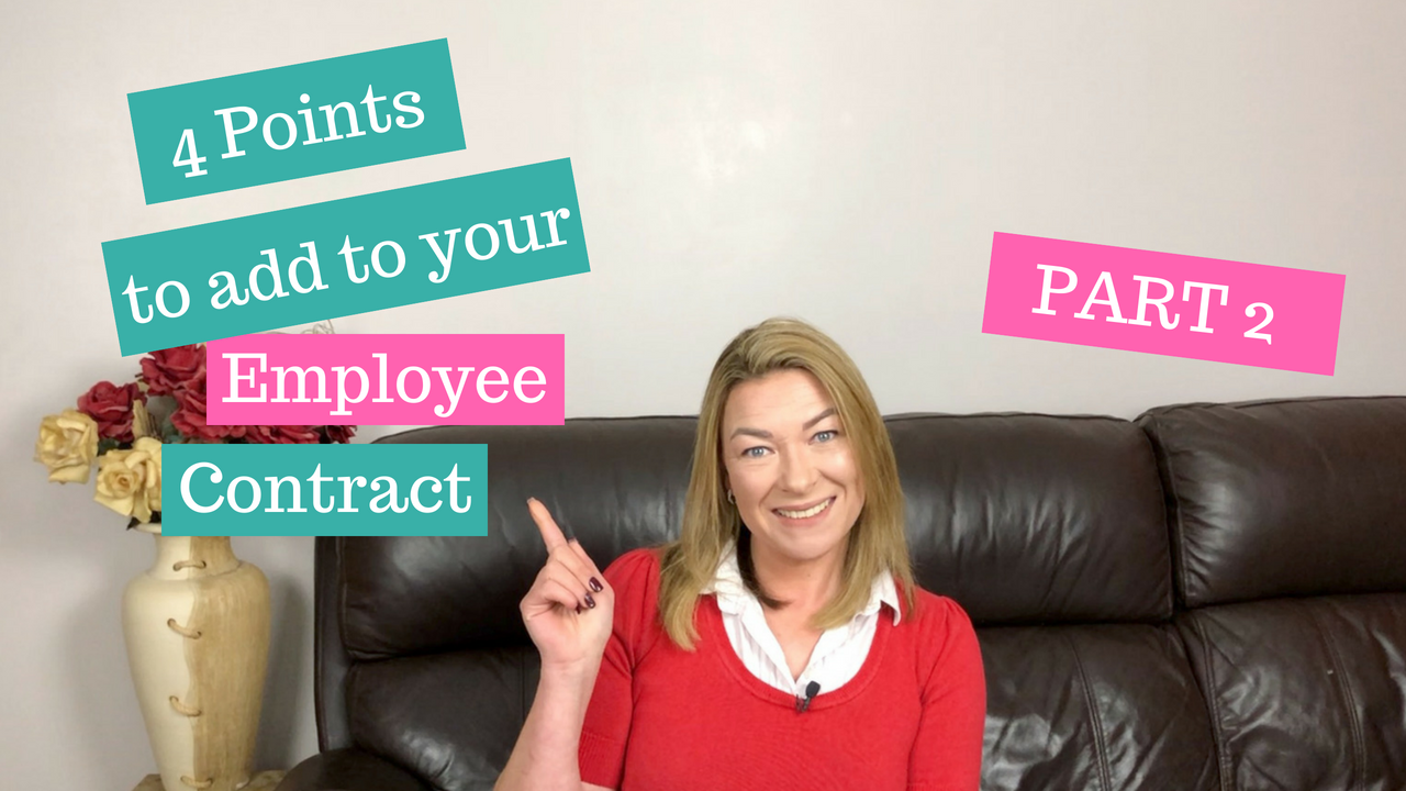 How To Write Your Own Employee Contract Part 2