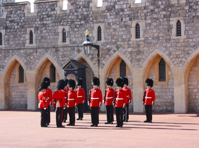 men standing in military posture
