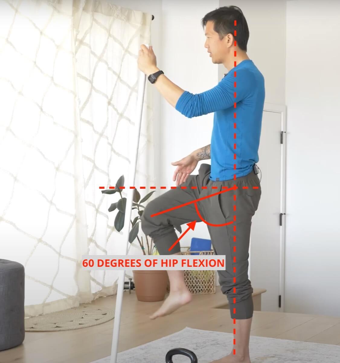 weak hip flexors