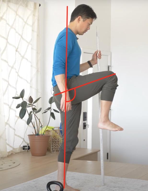 example of hip flexion