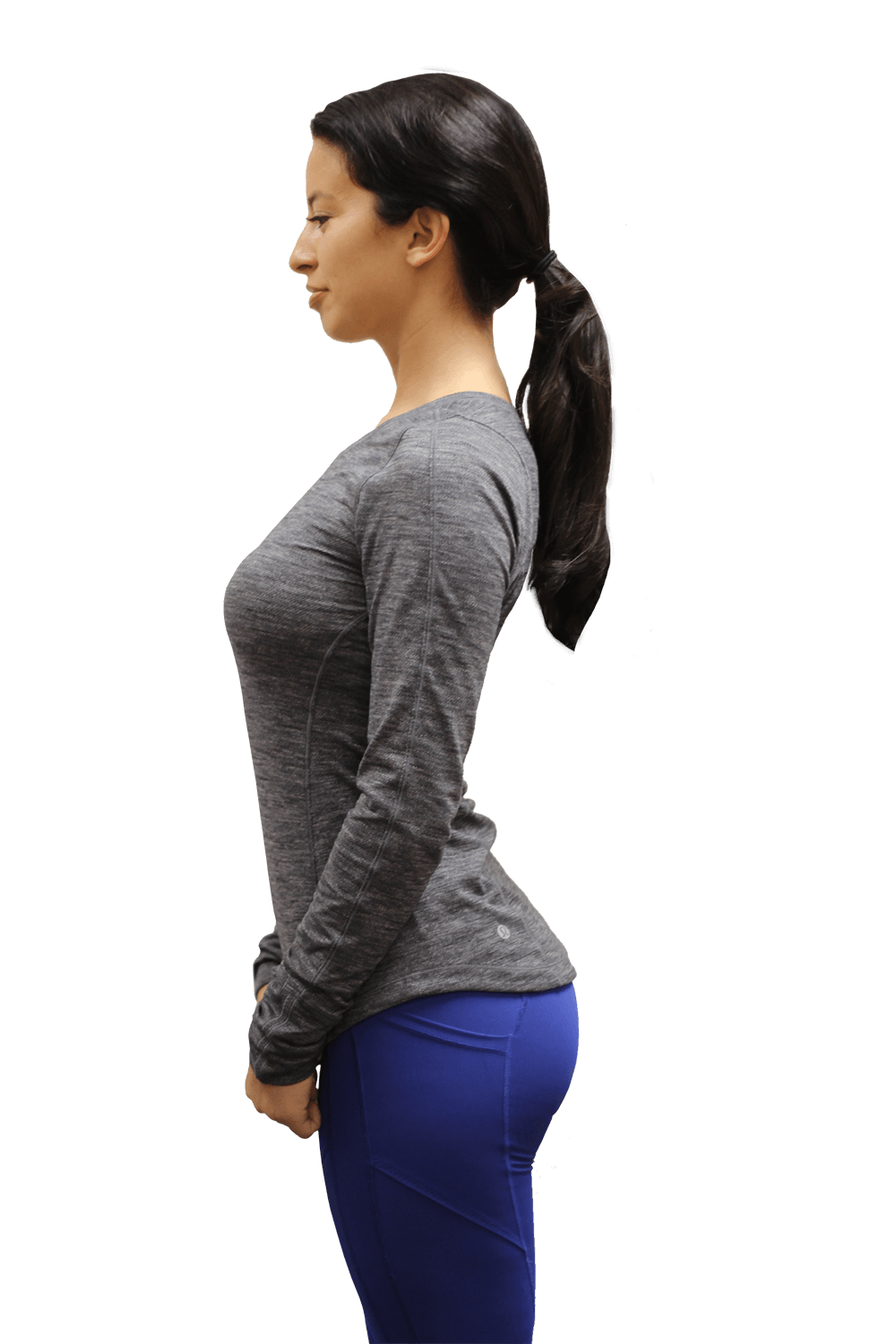 woman showing anterior pelvic tilt