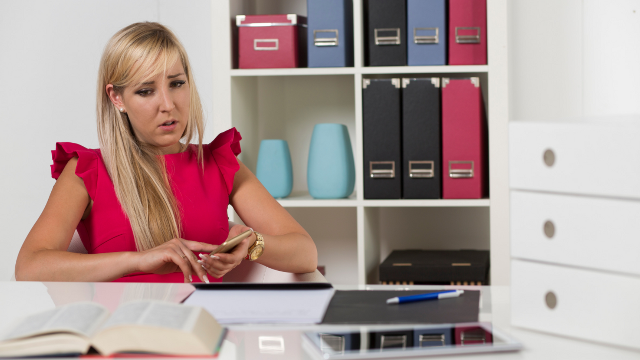 woman at home office, woman at desk, stressed CEO