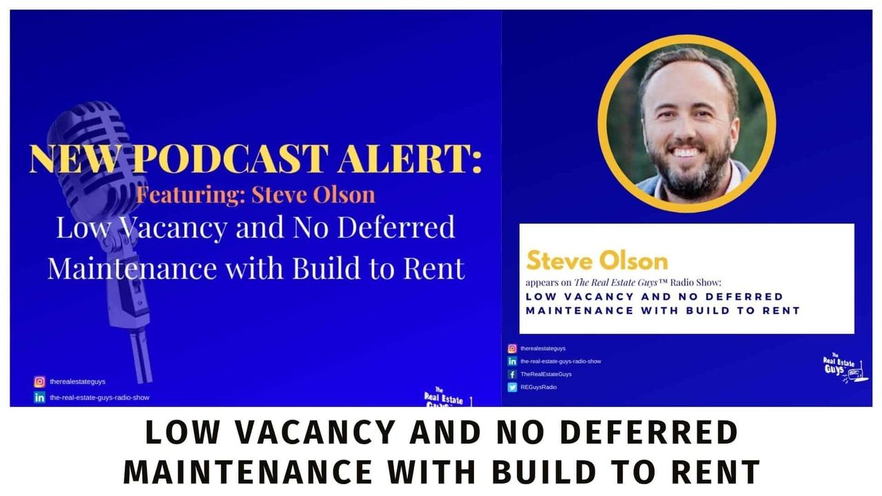 Steve Olson on the Real Estate Guys podcast