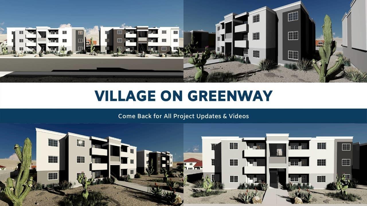 Village on Greenway Fourplex Rendering