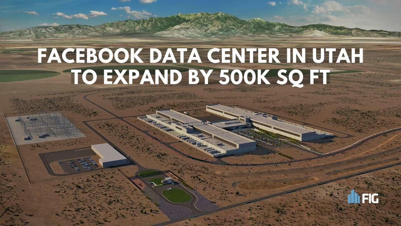 rendering of Facebook data center in utah