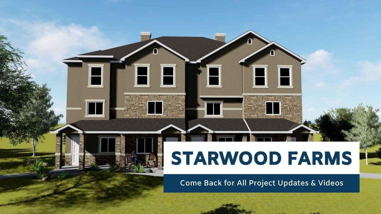 Starwood Farms fourplex rendering
