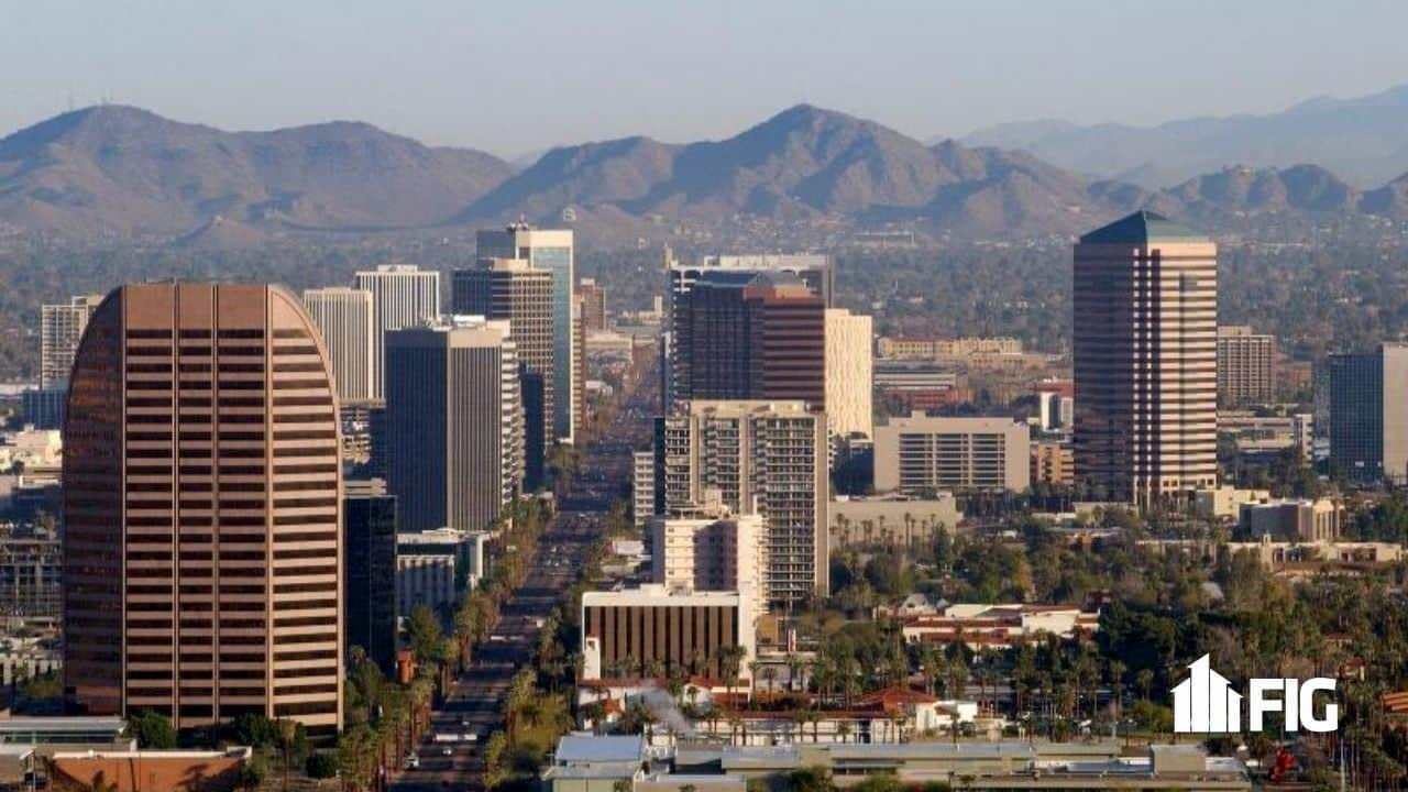 Phoenix Arizona city skyline