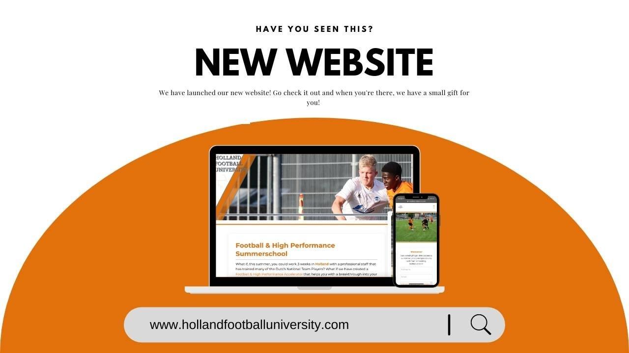 New Website Holland Football University. Total Football, High Performance