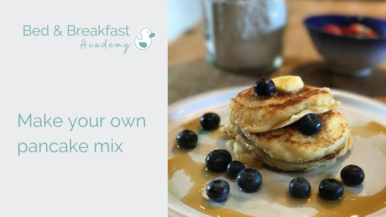 Homemade pancake mix | breakfast hack | buttermilk pancakes