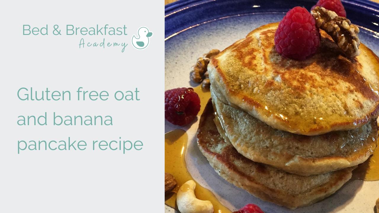 Gluten free banana and oat pancake recipe