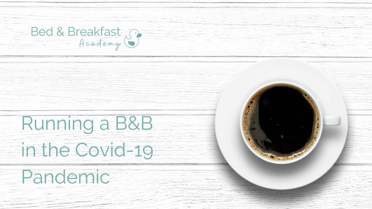 Running a B&B in the covid19 pandemic | cup of black coffee on a whitewashed wooden surface