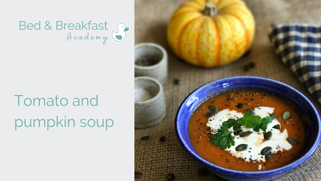 tomato and pumpkin soup recipe | Very easy, delicious, low calories tomato and pumpkin soup recipe | Perfect for using leftover pumpkin