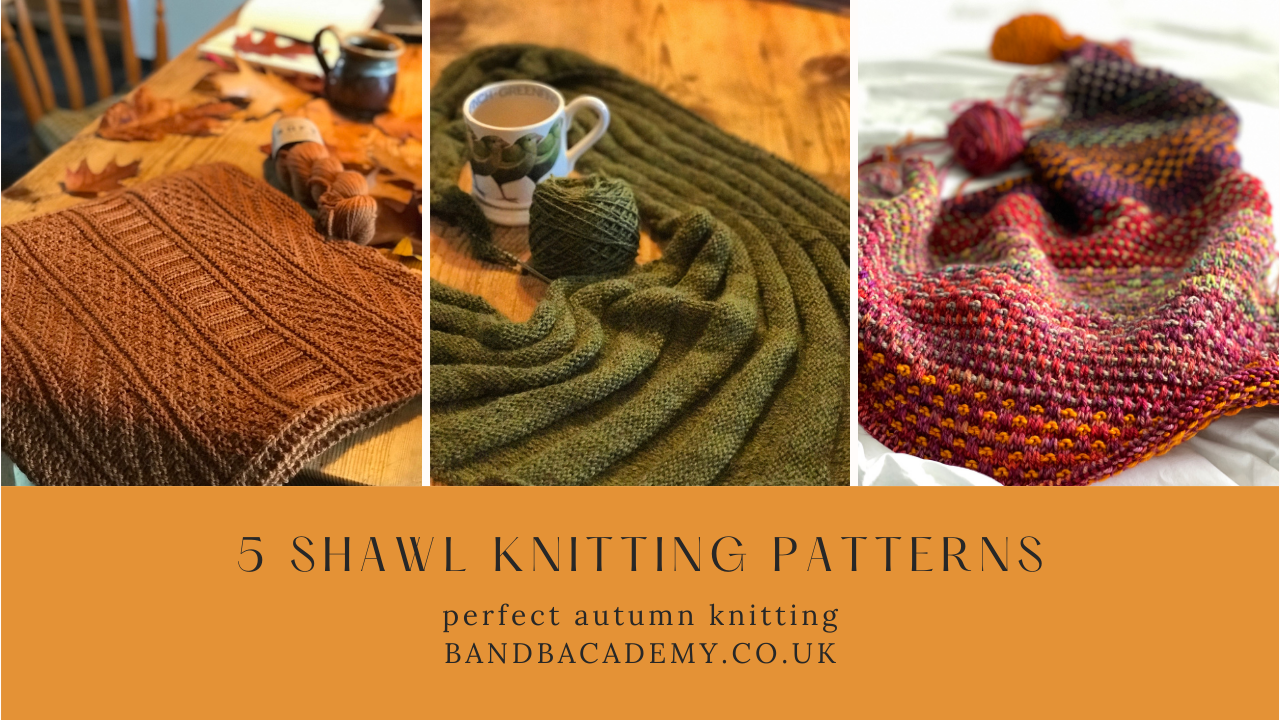5 Shawl Knitting Patterns | 3 different knitted shawls