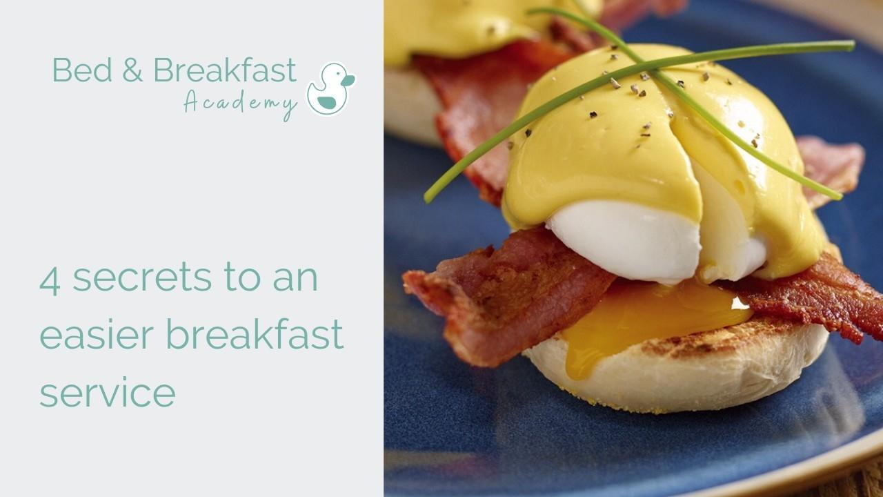 4 secrets to an easier breakfast service | breakfast hacks | breakfast tips