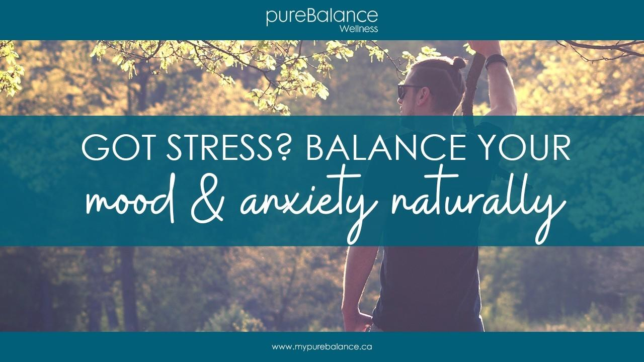 man leaning up against a tree - Got Stress? Balance Your Mood & Anxiety Naturally