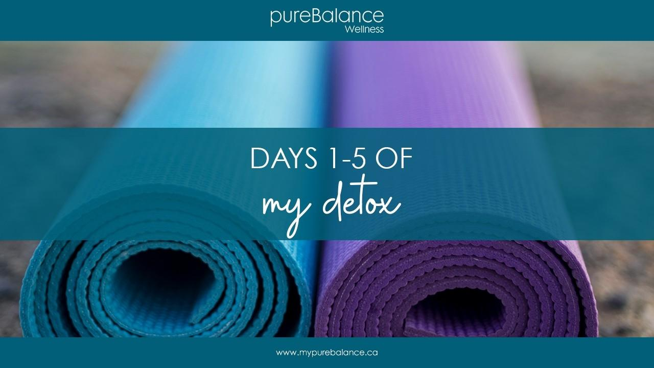 two yoga mats on a beach - Days 1-5 of My Detox
