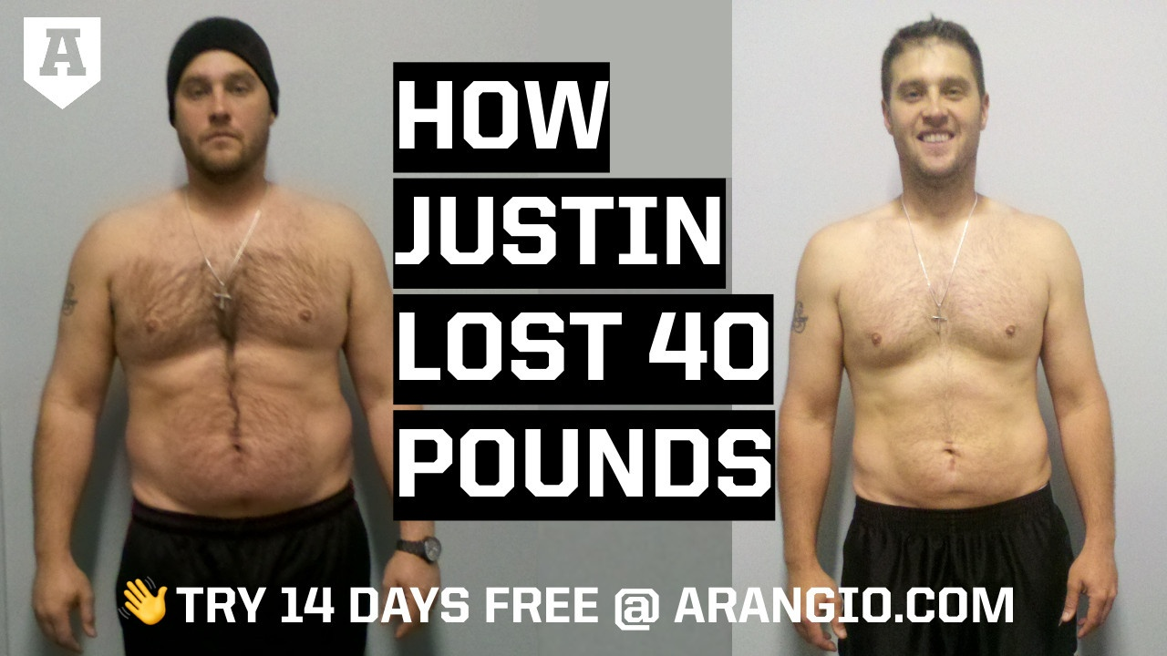 How Justin Lost 40 Pounds