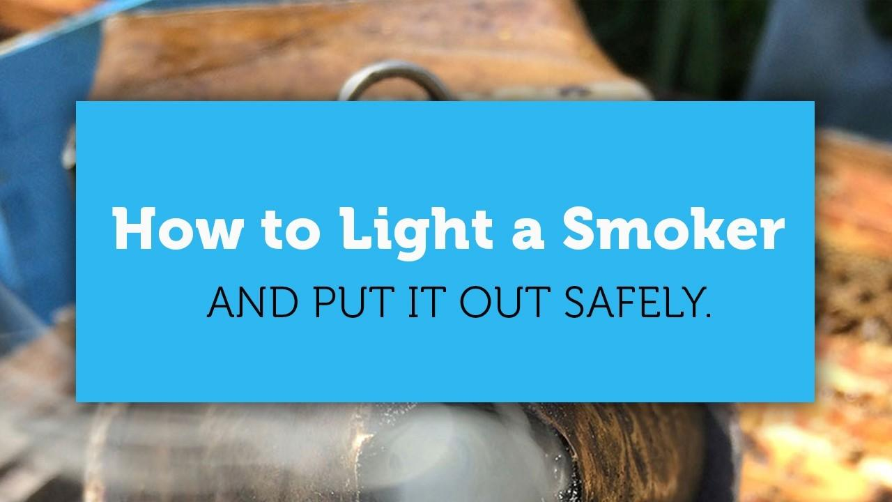 how to light a smoker blog title page