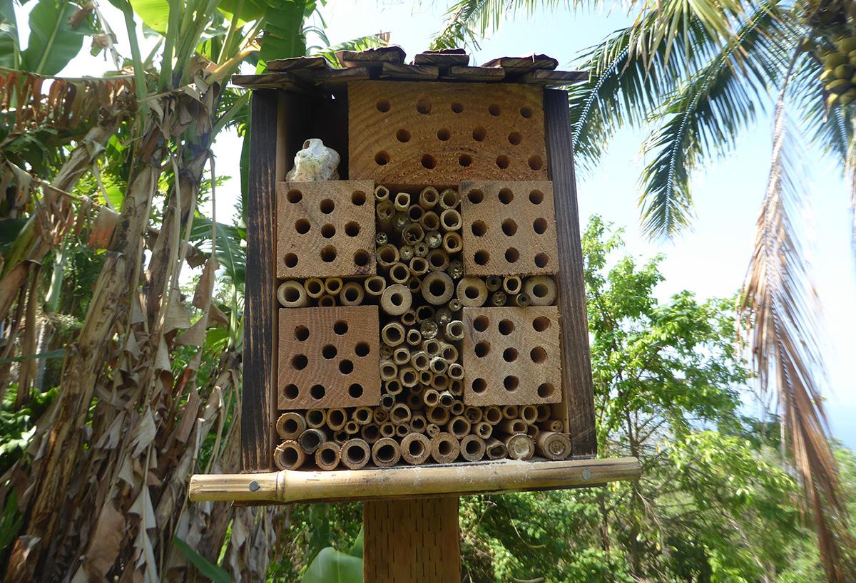 hand made bee hotel