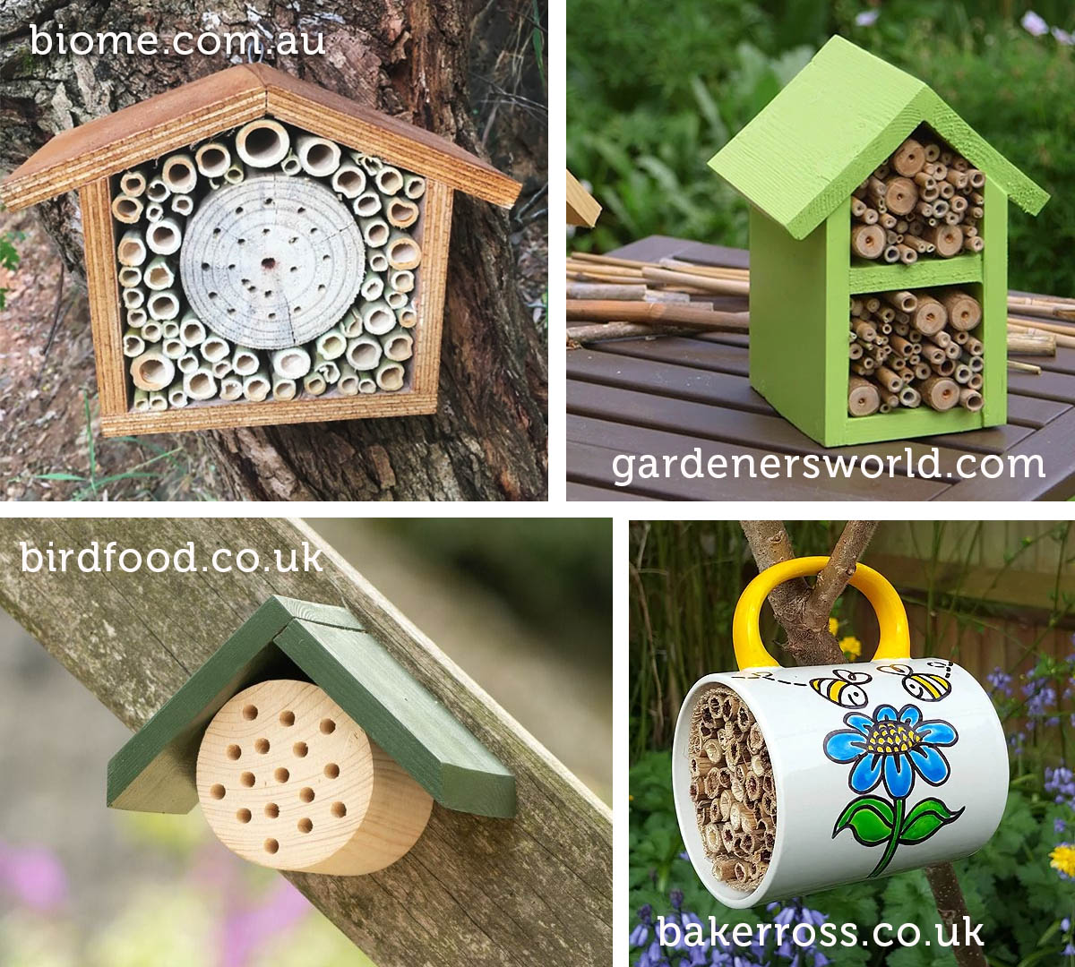 easy to make bee hotels