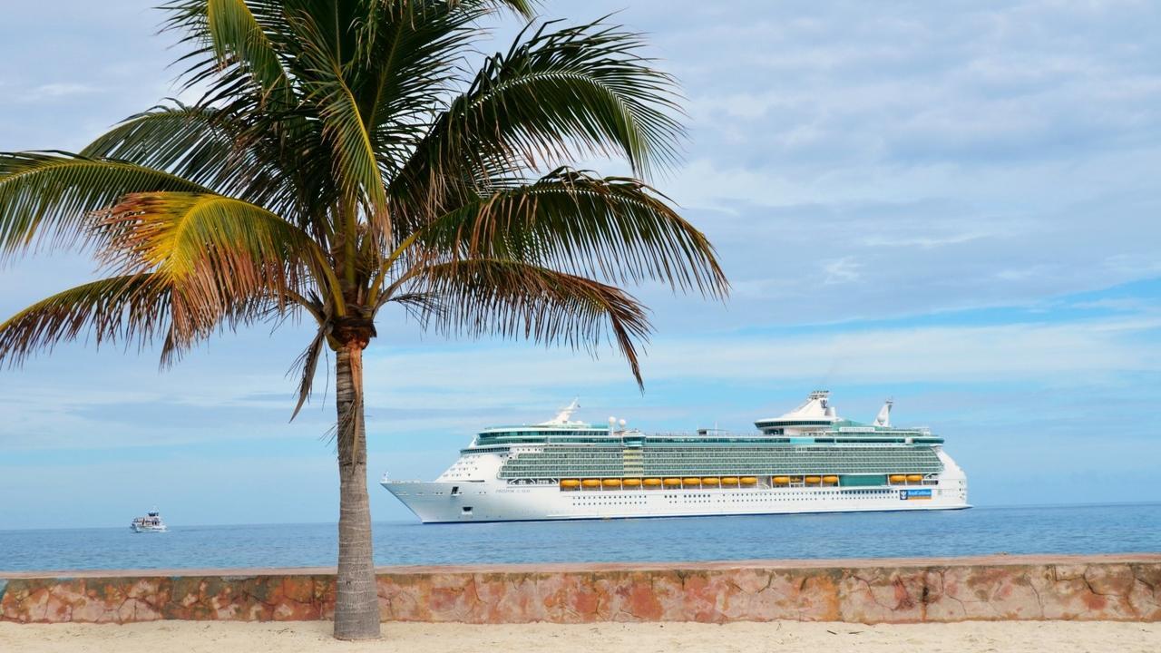 cruise ship docked in the bahamas
