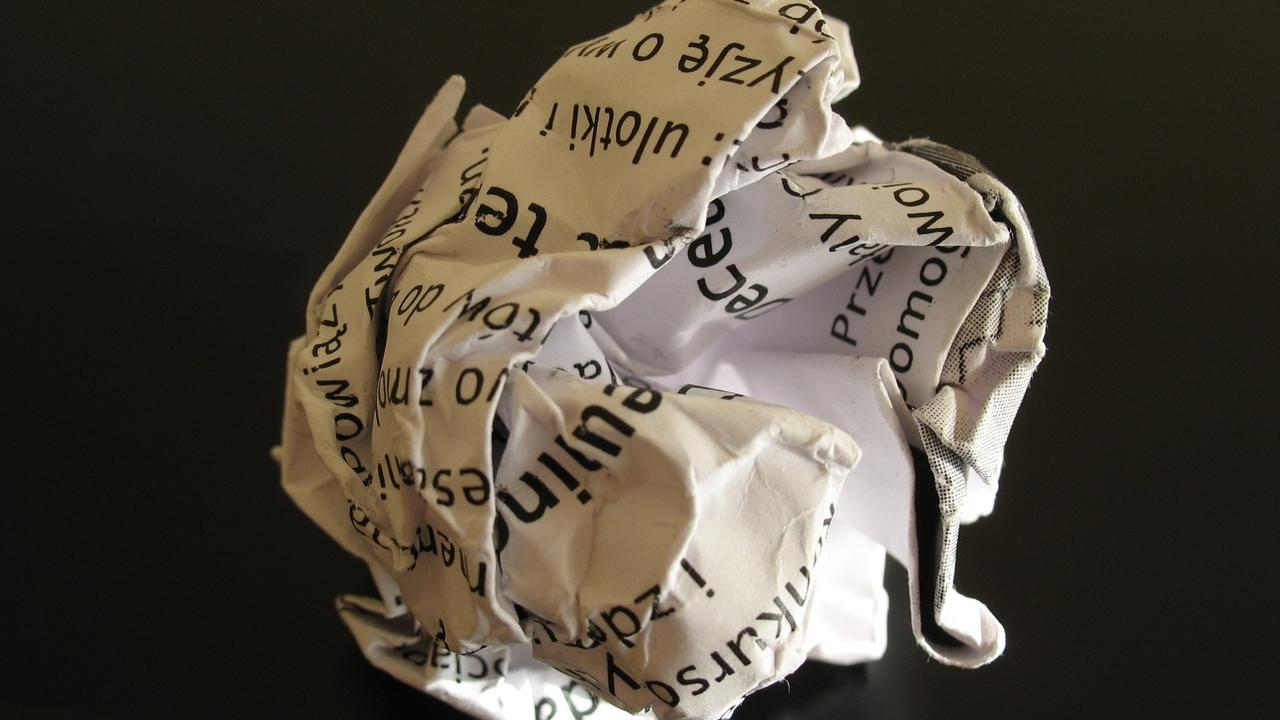 crumped up ball of paper