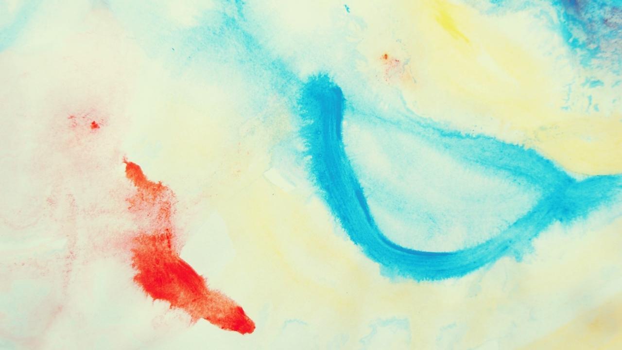 child's finger painting