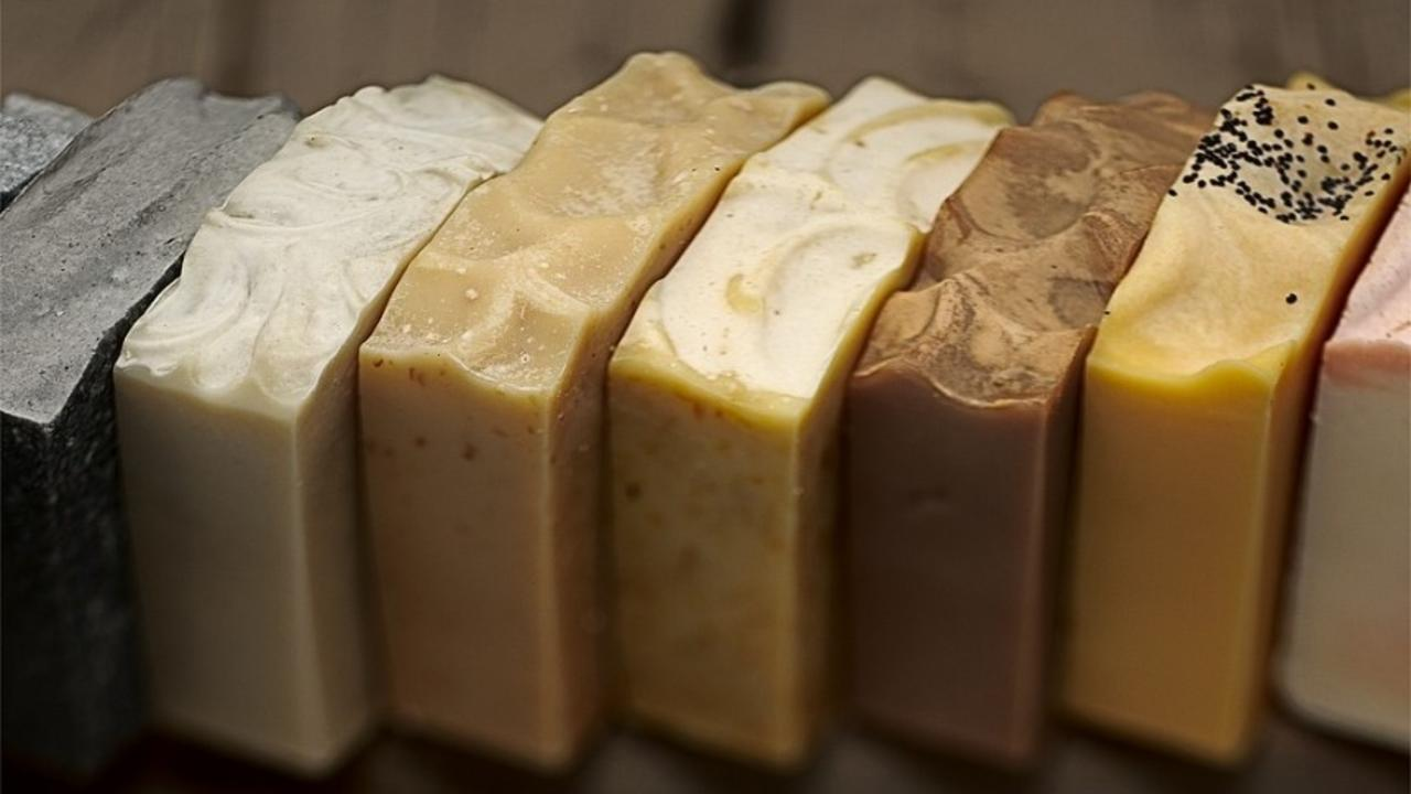 row of pienovonios soaps