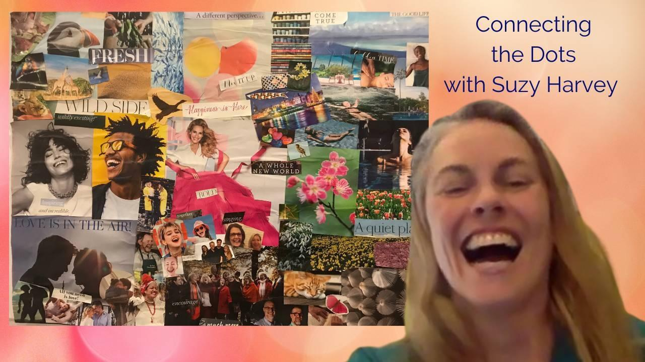 Suzy Harvey and her Vision Board