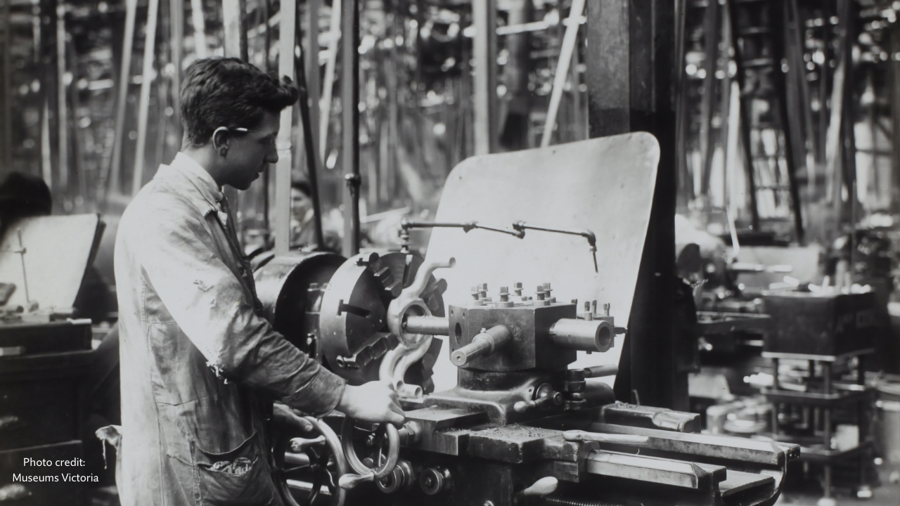 Using process in a 19th century factory