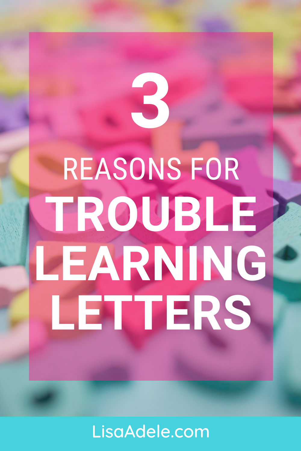 Trouble Learning Letters and Remembering Letter Sounds