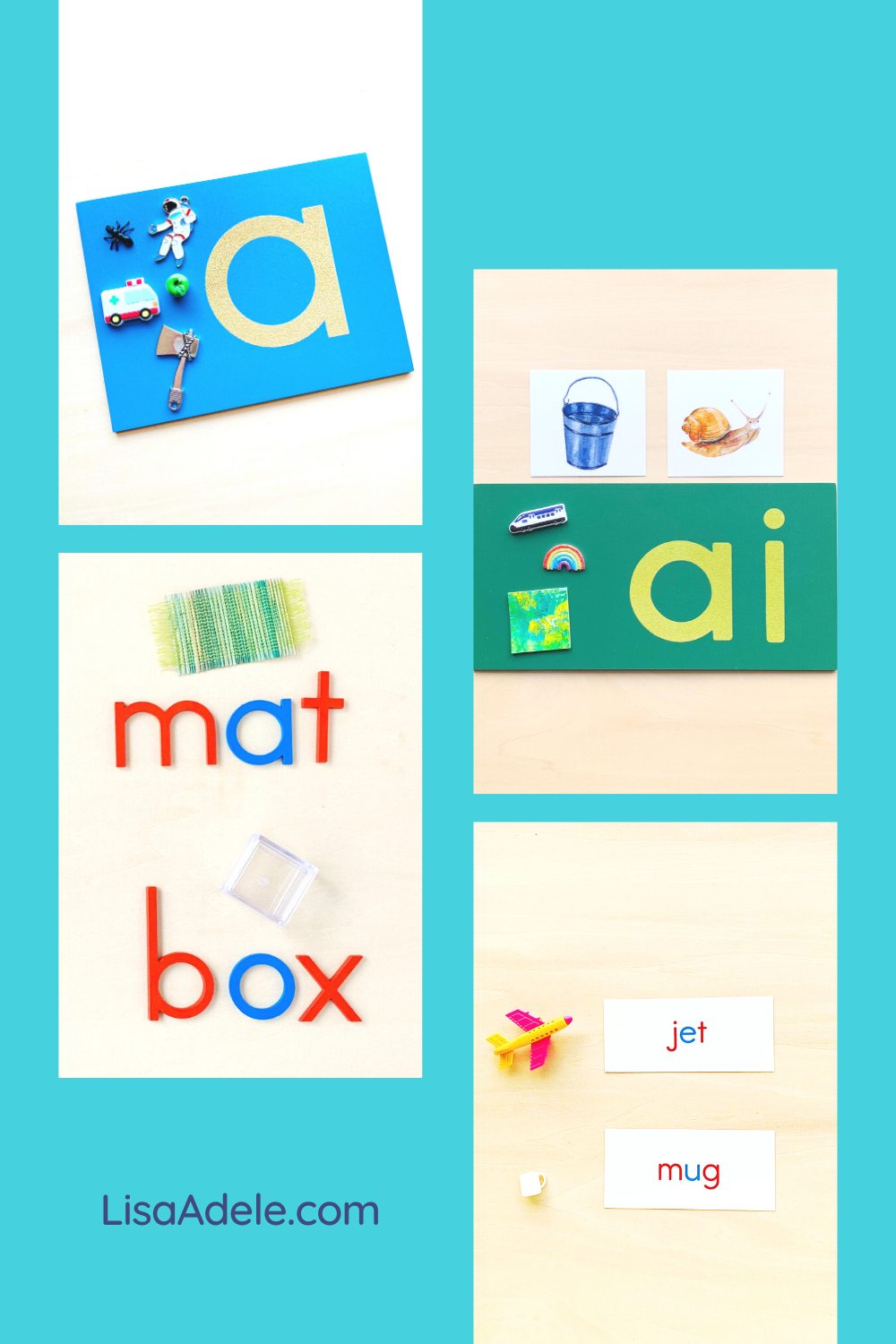 Montessori Language Objects Set for Teaching Phonics at Home