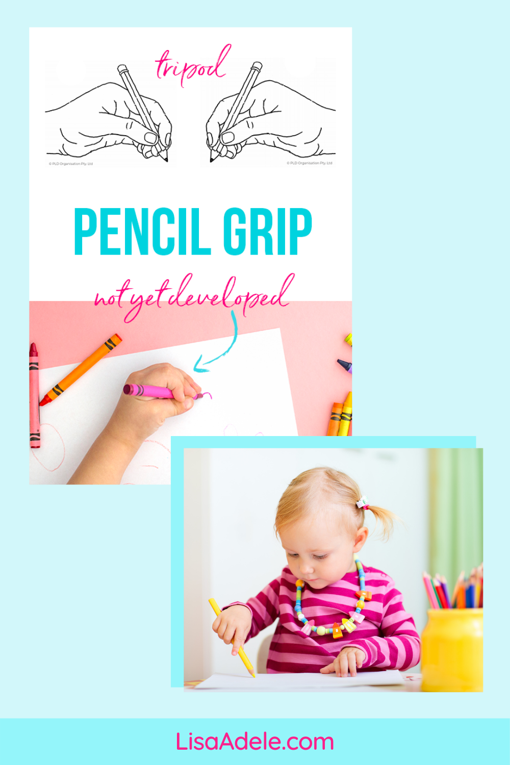 Pencil Grasp of Toddler or Preschool Child