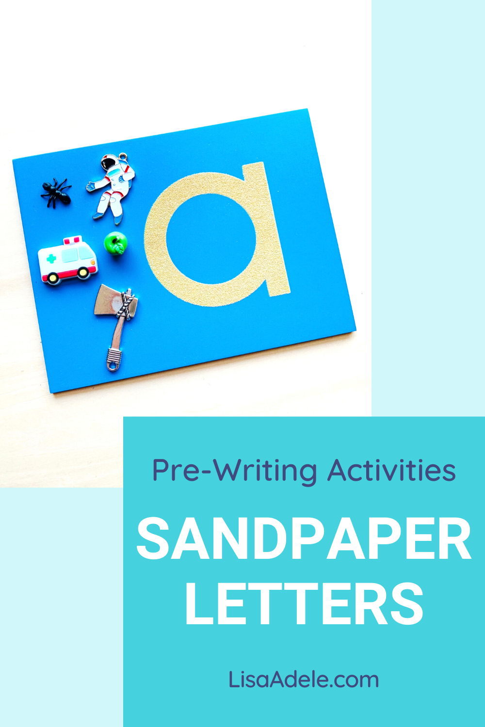 Montessori sandpaper letters with beginning sounds alphabet phonics objects